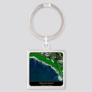 Pebble Beach 18th Hole Square Keychain