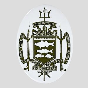 Trident Logo Back Oval Ornament