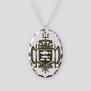 Trident Logo Back Necklace Oval Charm