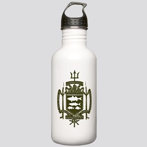 Trident Logo Back Stainless Water Bottle 1.0L