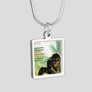 Diving Helmet Impact 1953 Silver Square Necklace