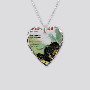 Diving Helmet Impact 1953 Necklace Heart Charm