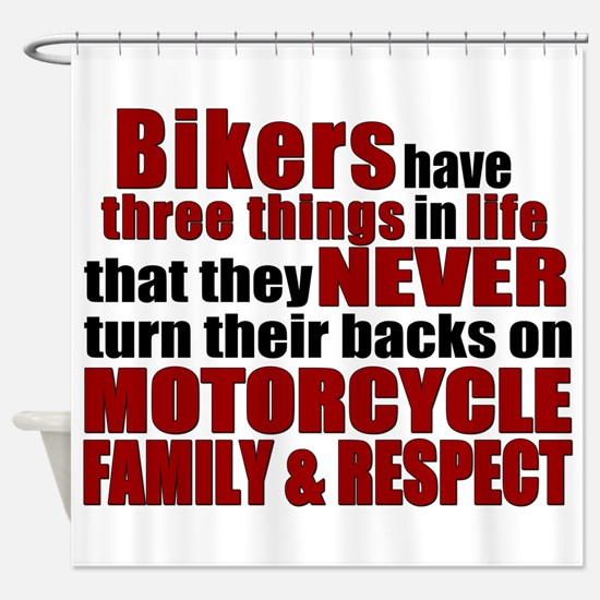 Three Things - Bikers Shower Curtain