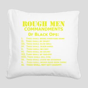 Art_Black Ops Commandments_ye Square Canvas Pillow