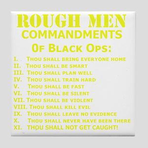 Art_Black Ops Commandments_yellow Tile Coaster