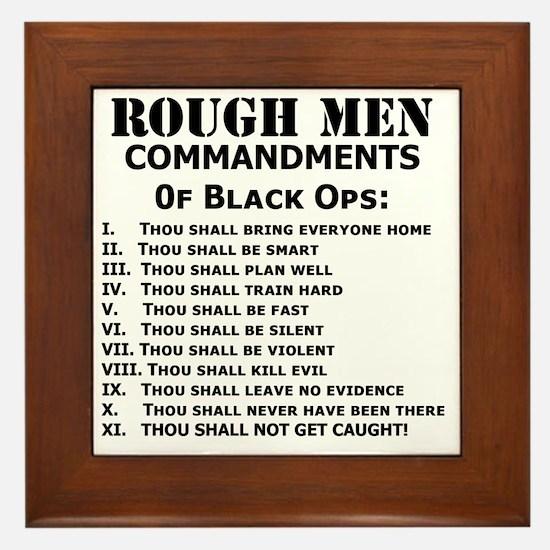 Art_Black Ops Commandments Framed Tile