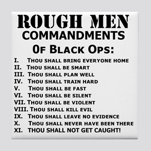 Art_Black Ops Commandments Tile Coaster