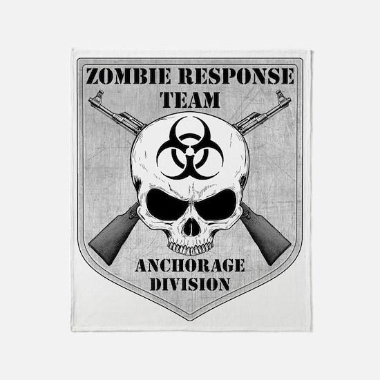 Zombie Response Team Anchorage Throw Blanket