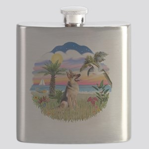 Palms-GermanShepherd1 Flask