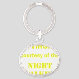 Art_72 virgins_nightstalkers_yellow  Oval Keychain