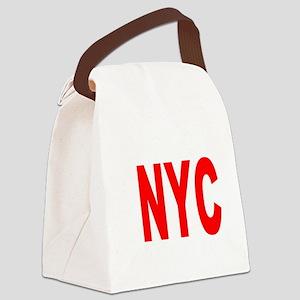 east harlem nyc(blk) Canvas Lunch Bag
