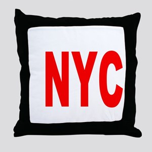east harlem nyc(blk) Throw Pillow