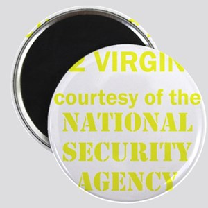 Art_72 virgins_national security agency_yel Magnet