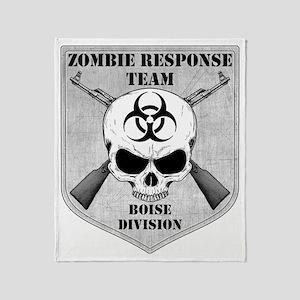 Zombie Response Team Boise Throw Blanket