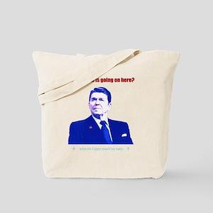 Ronald Reagan Today Dark Tote Bag