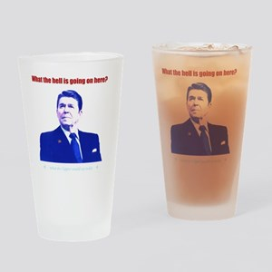 Ronald Reagan Today Dark Drinking Glass