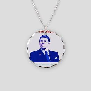 Ronald Reagan Today Dark Necklace Circle Charm