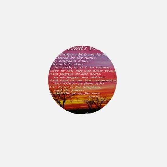 thelordsprayer_sunset Mini Button