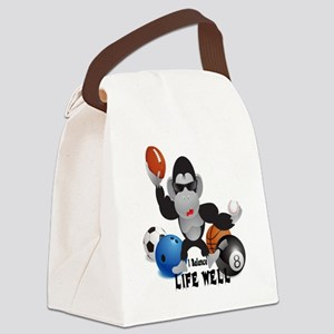 Balance Sports Life Well Canvas Lunch Bag