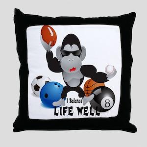 Balance Sports Life Well Throw Pillow
