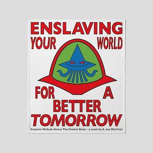 Emperor-Mollusk-Logo-WT Throw Blanket