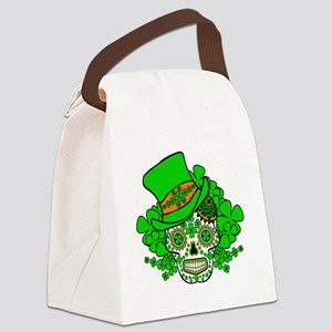 St.Patricks Day Skull 3 Canvas Lunch Bag