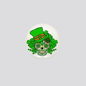 St.Patricks Day Skull 3 Mini Button