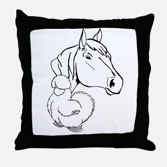 HORSEANDSILKIE Throw Pillow