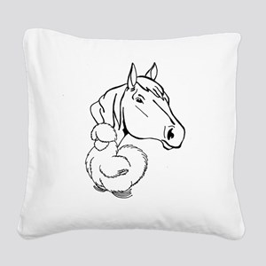 HORSEANDSILKIE Square Canvas Pillow