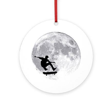moon Round Ornament
