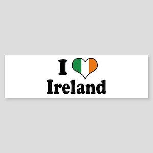 I Love Ireland Tricolor Bumper Sticker