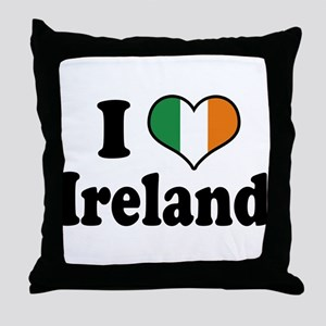 I Love Ireland Tricolor Throw Pillow