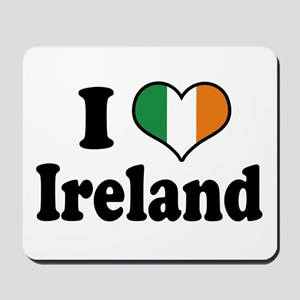 I Love Ireland Tricolor Mousepad