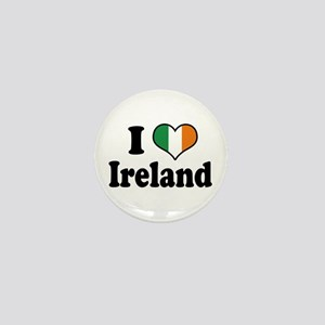 I Love Ireland Tricolor Mini Button