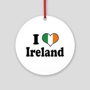 I Love Ireland Tricolor Ornament (Round)