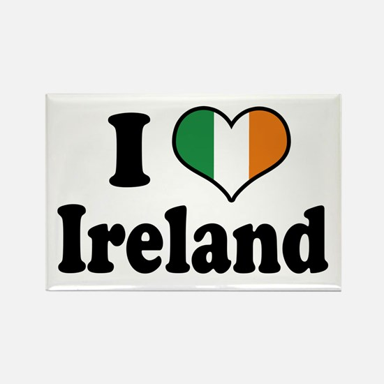 I Love Ireland Tricolor Rectangle Magnet