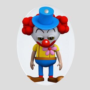 3d-clown-sad Oval Ornament