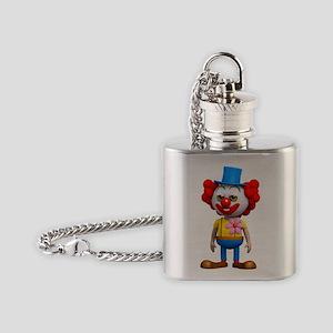 3d-clown Flask Necklace