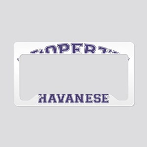 havaneseproperty License Plate Holder