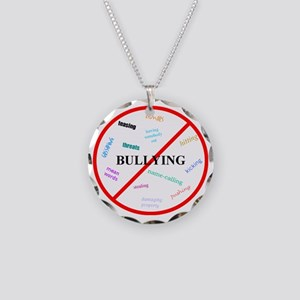 No bullying Necklace Circle Charm