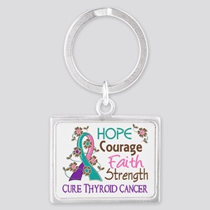 D Hope Courage Faith Strength 3 Landscape Keychain