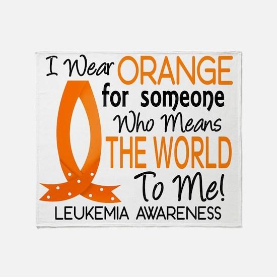 D Means The World To Me Leukemia Throw Blanket