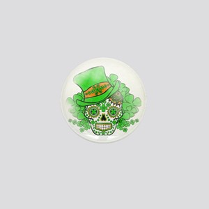 St.Patricks Day Skull Vintage Mini Button