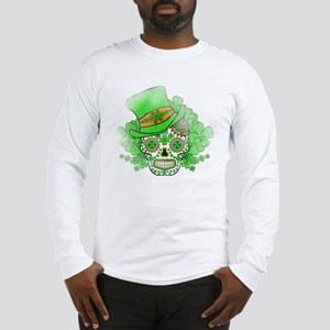 St.Patricks Day Skull Vintage Long Sleeve T-Shirt