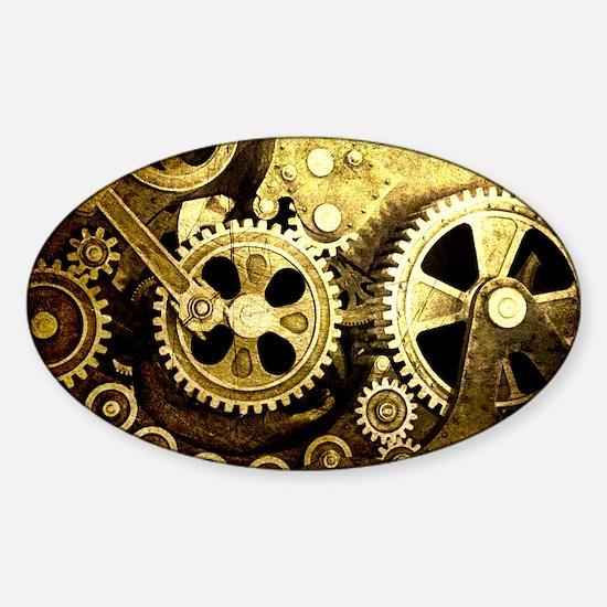 laptop gears Sticker (Oval)