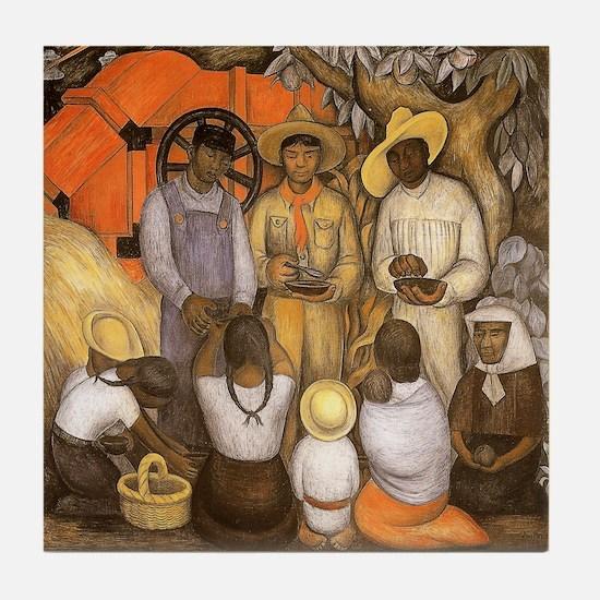 Diego Rivera Art Tile Coaster Triumph Revolution