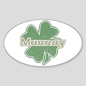 """Shamrock - Murray"" Oval Sticker"