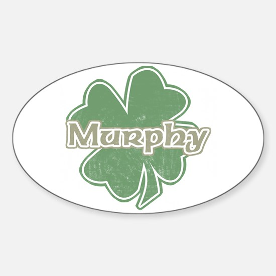 """Shamrock - Murphy"" Oval Decal"