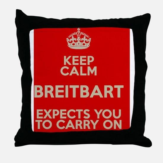 Breitbart-KeepCalm Throw Pillow