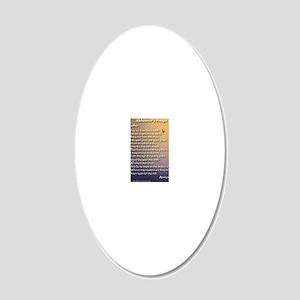 Alzheimers_prayer_calligraph 20x12 Oval Wall Decal